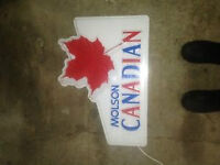 Vintage Molson Canadian luminated Bar Sign. Very good condition