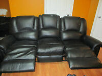 Couch reclines and so does the chair!