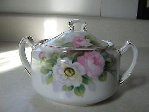 Hand Painted Nippon Sugar Bowl Ebay