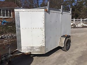 5x8 V-nose enclosed trailer 2012  W/ownership/reduced price