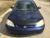 STOLEN 2001 Honda Civic Coupe (2 door)