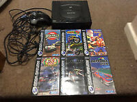 Sega Saturn Console Mk 1 I + 7 Games Full Setup with controller PAL UK