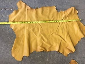 Natural/Yellow Leather Hides