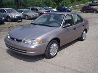 2000 TOYOTA COROLLA MINT CONDITION CERTIFIED & E-TESTED