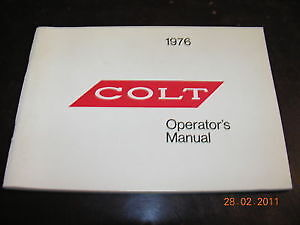 NOS-Mopar-76-Dodge-Colt-Owners-Manual-VGC-NEW-GT-FREE-SHIPPING
