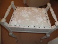 Dressing Table Stool With Storage - Upholstered - Piano Stool
