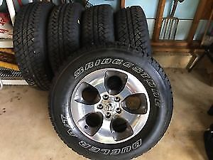 "5 Brand new 18"" wrangler rims and tires"