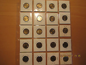 Collectable uncirculated memorial 20 Russian coins