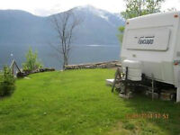 Kootenay Lake Waterfront RV site for lease
