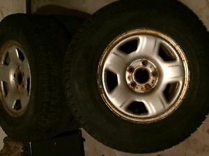 235-75R15 Blizzak DM-Z3 on steel rims