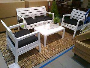 ikea tynningo outdoor set two seater/chairs and outdoor umbrella Woy Woy Gosford Area Preview