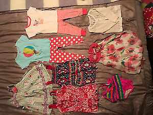 Like New! Little Girl Summer Clothes Sz 18-24 months