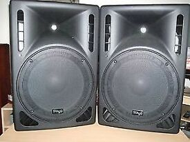 Pair of new stagg sms15 passive speakers