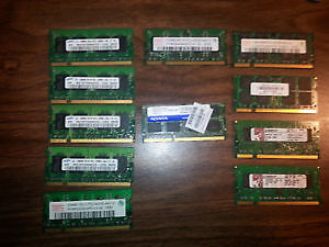 DESKTOP AND LAPTOP RAM !!! $ 5 AND UP !!!