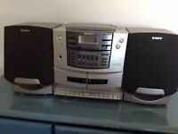 Sony CD Player with AM/FM Radio and Cassette