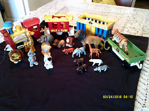 Circus Train Fisher Price Little People 1973 - 21 pièces
