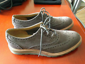 NEW BUCCO WOMEN OXFORD PUMP SHOES sz6.5 GREY