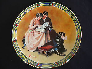 "Norman Rockwell collector plate ""A Couple's Commitment"""