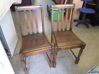 20% OFF ALL ITEMS SALE -Pair of dining chairs for reupholstery project - Can Deliver For £19