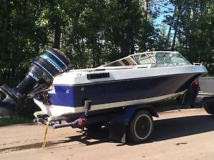 16ft open bow/115HP outboard Strathcona County Edmonton Area image 2