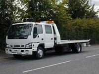 24 Hour Local, National and European recovery service - Large 7.5 Tonne, 2 cars possible.