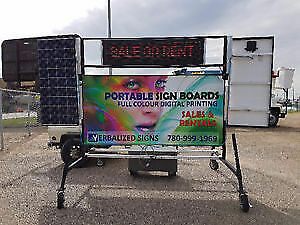 Portable Graphic Sign Boards with Digital Insert