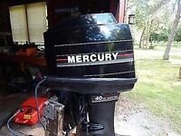 40hp Mercury long shaft