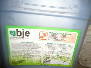 Concentrated Lawn Fertilizer- $50 each jug BJE 18-0-5
