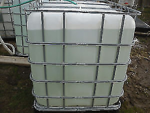 """TOTES - 1000L/1200L PLASTIC TOTES FOR SALE Outlet with 2"""" Valve"""