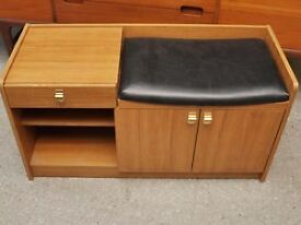XMAS SALE NOW ON!! Telephone Table With Seat In Need Of Re-upholstery - Can Deliver For £19