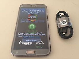 SAMSUNG GALAXY NOTE 2 SIMFREE IN GREY COMES WITH CHARGER AND THREE MONTHS WARRANTY