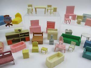 Furniture For Dollhouse With Marx Dollhouse Furniture Lot Ebay