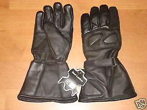 Motorcycle Leather Thinsulate Gloves Gauntlets Bikers Riders