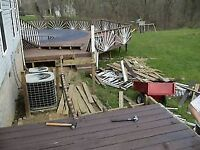 WE REMOVE BRUSH,TREES,PATIOS,SHEDS,FENCES,JUNK,GARBAGE