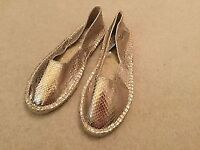 Ladies Next gold espadrilles style slip on flat shoes Brand New size 4