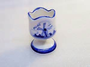 Delft Egg Cup Hand Painted in Delft Blue Colour Holland
