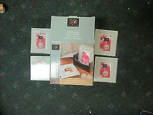 Custom designed frosted glass coaster set BRAND NEW