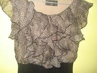 SMART DRESSY DRESS, (AX PARIS) SIZE 10. FABULOUS
