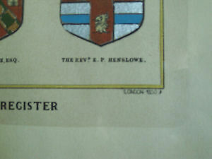 'The Heraldic Register' - Beautiful Framed Print Cambridge Kitchener Area image 4