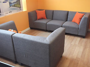 2 PCE LOVE SEAT $249/ 3 PCE MODULAR COUCH $399 - USED 3 WEEKS