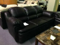 BRAND NEW CANADIAN MADE BONDED LEATHER SOFA, LOVE SEAT AND CHAIR