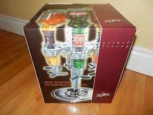 BNIB Wine Bottle Dispenser,holds six filled bottes of liquor.OBO