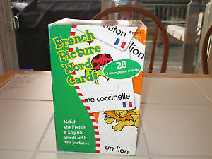 French Picture Word Cards Game/Puzzle