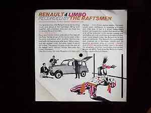 """Renault 4 Limbo"" cardboard promotional record 45 / 33 Cambridge Kitchener Area image 2"