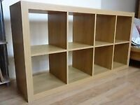 Ikea Kallax oak effect shelving unit