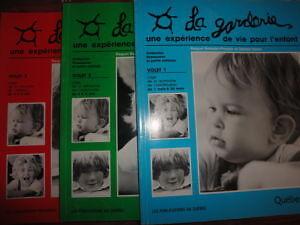 La garderie une expérience de vie pour l enfant 3 livres