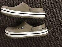Crocs in light beige and cream UK size 7