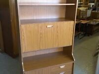 20% OFF ALL ITEMS SALE - Retro Style Display Cabinet With Drinks Bureau - Can Deliver For £19