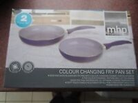 Map colour changing frying pans