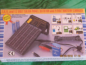 NEW universal Solar battery charger and AC portable adapter